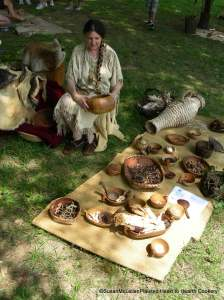 Susan's display at the Pow Wow