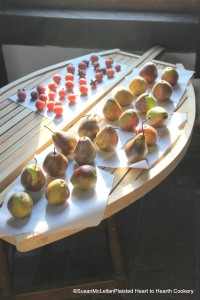 Pears on Drying Rack