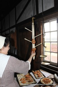 Placing Pretzels on a Hanger