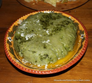 Spinach Pudding Presented