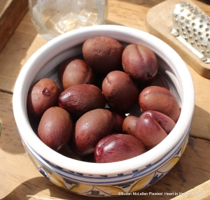 """The receipt (recipe) """"Plum Tart-My Lady Sheldons Receipt"""" calls for a quart of plums wiped cleane.  I am using a gally pot filled with preserved whole plums as it is not the season for fresh plums."""