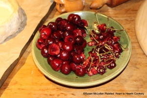 """After the coffin was prepared for the receipt (recipe) """"To make a Cherry Tart"""", it was time to take out the stones leaving the cherry in one piece."""