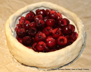 "Once all the cherries are all stoned for the receipt (recipe), ""To make a Cherry Tart"" lay the cherries into the tart (coffin)."